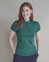 Ladies` Stretch Polo Shirt + Wicking Finish